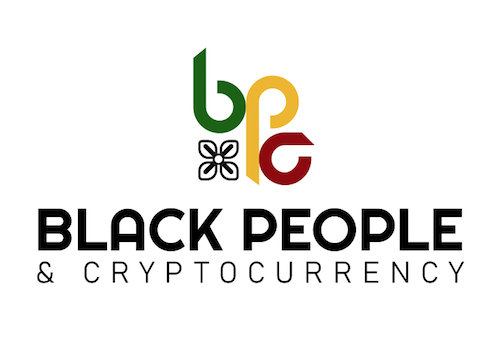 Black People And Cryptocurrency's Logo in Color.